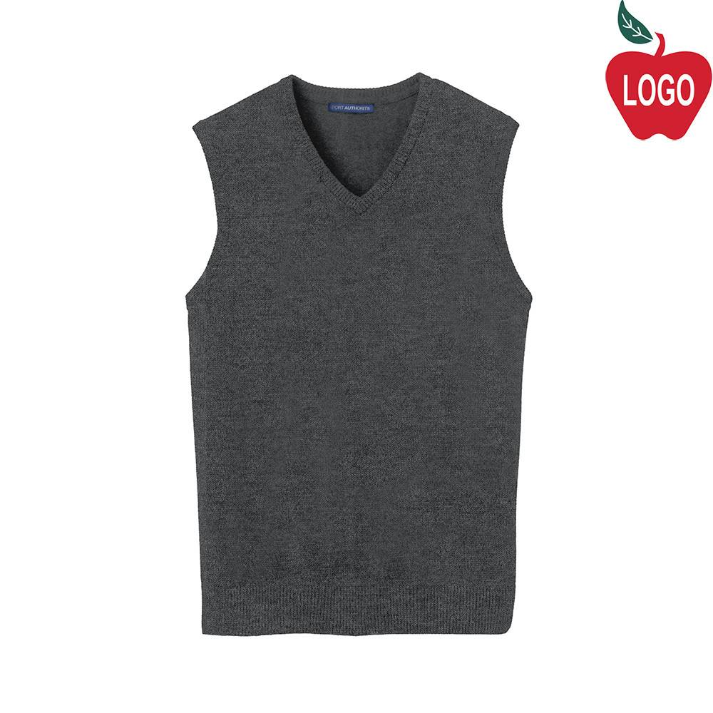 Port Authority Charcoal Grey Sweater Vest #SW286 - Merry Mart Uniforms