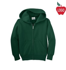 Hanes Green Full Zip Hooded Sweatshirt #P480
