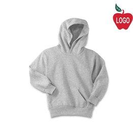 Port Authority Ash Grey Pullover Hood Sweatshirt