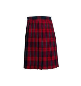 Dennis Uniform Woodland Plaid Knife Pleat Skirt #1886