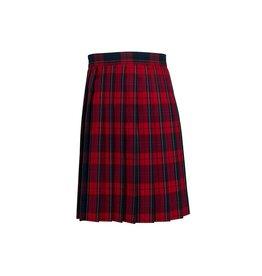 Dennis Uniform Woodland Plaid Knife Pleat Skirt #1886