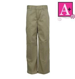 Tulane Khaki Plain Front Pant #7751