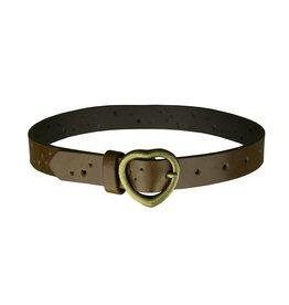 EE Dee Trim Light Brown Leather Heart Belt #FBE212