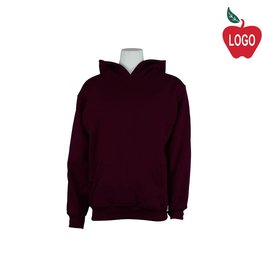 Russell Wine Hooded Pullover Sweatshirt #995