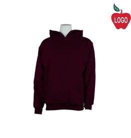 Russell Wine Hooded Pullover Sweatshirt #995