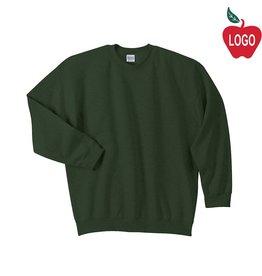 Gildan Green Crew Sweatshirt #18000
