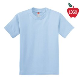 Hanes Light Blue Short Sleeve Tee #5450