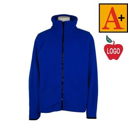 School Apparel A+ Royal Full Zip Fleece Jacket #6202