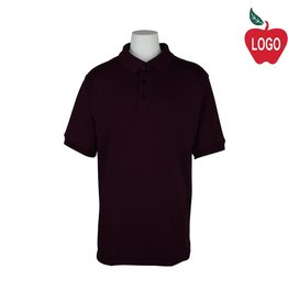 Elder Wine Short Sleeve Interlock Polo #5771