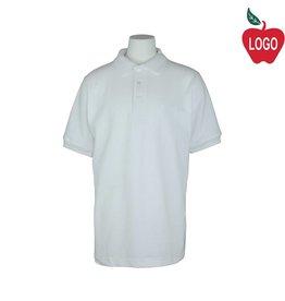 Tulane White Short Sleeve Pique Polo #8747