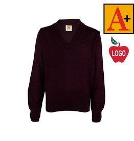 School Apparel A+ Wine Pullover Sweater #6500