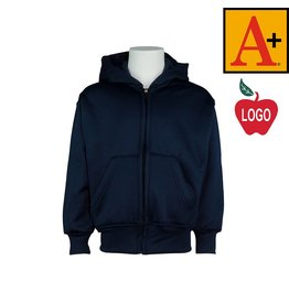 School Apparel A+ Navy Blue Full Zip Sweatshirt #6131