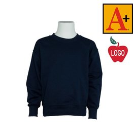School Apparel A+ Navy Blue Crew-neck Sweatshirt #6254