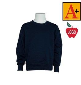 School Apparel A+ Navy Blue Crew-neck Sweatshirt #6254