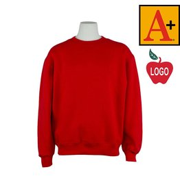 Soffe Red Crew-neck Sweatshirt #6254