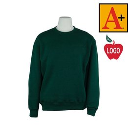 School Apparel A+ Green Crew-neck Sweatshirt #6254