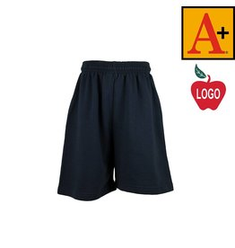 School Apparel A+ Navy Blue Sweatshort #6250