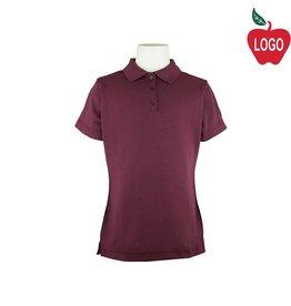 Elder Wine Short Sleeve Interlock Polo #7771