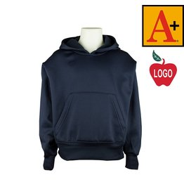 School Apparel A+ Navy Blue Hooded Pullover Sweatshirt #6132