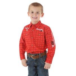 Wrangler Boy's Wrangler 20X Logo Snap Front Shirt BP1289M