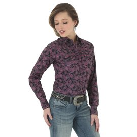 Wrangler Women's Wrangler Tough Enough To Wear Pink Snap Front Shirt LWB751M