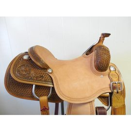 Reinsman REINSMAN COWHORSE saddle 1/2 TOOLED SP4822-36OWN