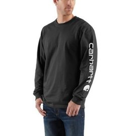 Carhartt Men's Carhartt Long Sleeve Graphic Logo T-Shirt K231-BLK
