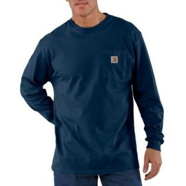 Carhartt Men's Carhartt Long Sleeve Workwear Pocket T-Shirt K126-NVY