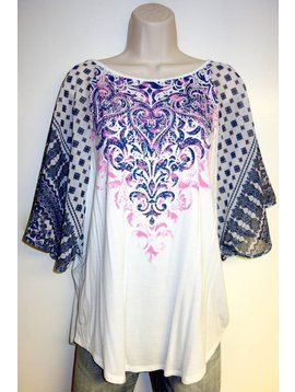 VOCAL WHITE TOP PINK CENTER 13074S