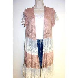 Vocal VOCAL DUSTY PINK CARDIGAN 14815C