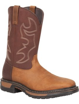Rocky Men's Rocky Original Ride Steel Toe Western Boot RKYW040