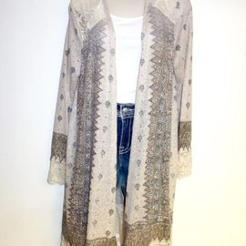 Vocal VOCAL TAUPE CARDIGAN 14570LCX