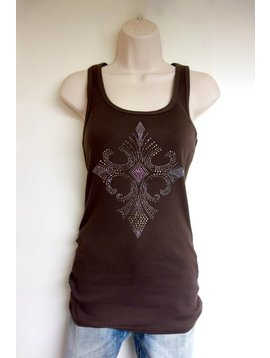 Vocal VOCAL BROWN TANK w/CROSS 4661T
