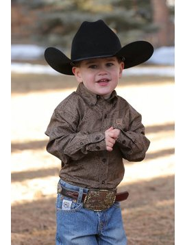 Cinch Infant's Cinch Button Down Shirt MTW7062147-BRN
