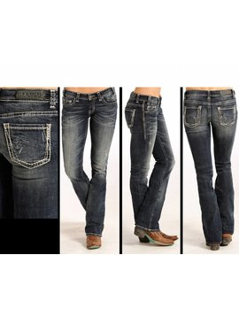 Rock and Roll Cowgirl Women's Rock & Roll Cowgril Rival Low Rise Jean W6-4489