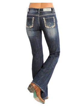 Rock and Roll Cowgirl Women's Rock & Roll Cowgirl Riding Jean W7-5626