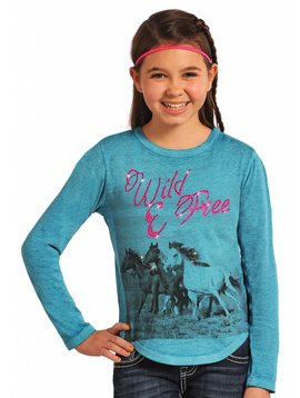 Rock and Roll Cowgirl Girl's Rock & Roll Cowgirl T-Shirt G4T4855 C5