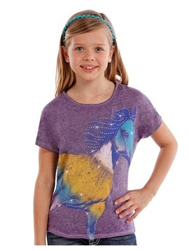 Rock and Roll Cowgirl Girl's Rock & Roll Cowgirl T-Shirt G3T6410 C5