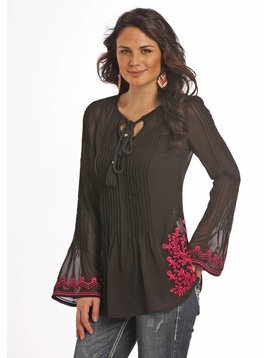 Rock and Roll Cowgirl Women's Rock & Roll Cowgirl Blouse B4-9110