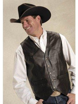 Roper Men's Roper Lamb Leather Vest 02-075-0520-0501BR