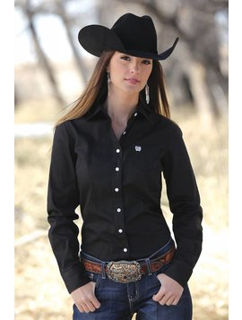 Cinch Women's Cinch Button Down Shirt MSW9164027-BLK