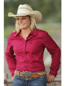 Cinch Women's Cinch Button Down Shirt MSW9164019-RED
