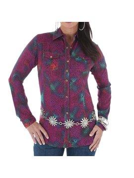 Wrangler Women's Rock 47 by Wrangler Snap Front Shirt LJ7911M C4