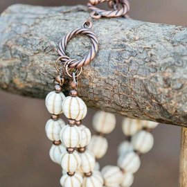 West & Co. WEST & CO. IVORY COPPER BEAD TOGGLE BRACELET BR1011
