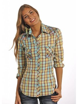 Rock and Roll Cowgirl Women's Rock & Roll Cowgirl Snap Front Shirt B4S3779