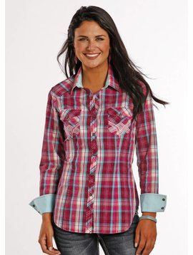 Rock and Roll Cowgirl Women's Rock & Roll Cowgirl Snap Front Shirt B4S8371