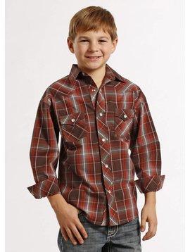 Panhandle Boy's Rock & Roll Cowboy Snap Front Shirt B8S8424