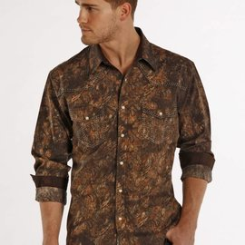 ROCK&ROLL COWBOY Men's Rock & Roll Cowboy Snap Front Shirt B2S7273