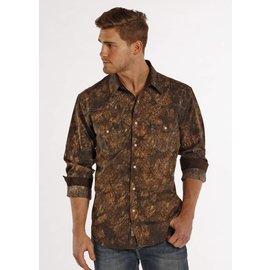 ROCK&ROLL COWBOY Men's Rock & Roll Cowboy Snap Front Shirt B2S7273