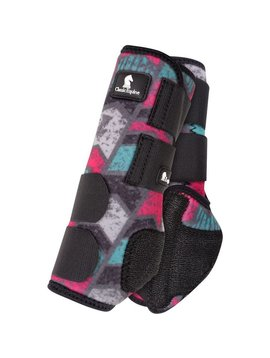 Classic Equine GREY CHEVRON LEGACY SYSTEM FRONT SPLINT BOOTS